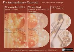 Bach, Brahms, Bruckner & Blazers nov. 2005