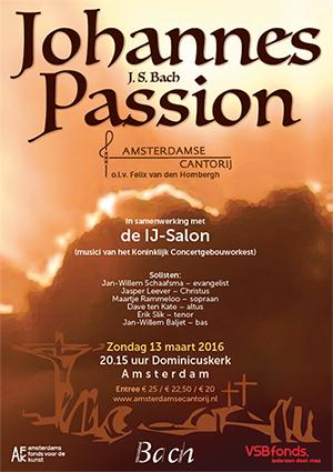 Johannes Passion maart 2016